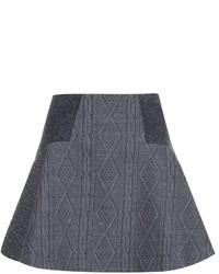 Falda de lana en gris oscuro de Alice + Olivia