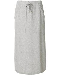 Falda de lana gris de Joseph
