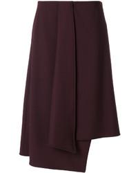Falda de lana morado oscuro de Etro