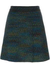 Falda de lana negra de M Missoni