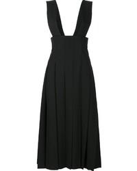 Falda de Lana Plisada Negra de Comme des Garcons