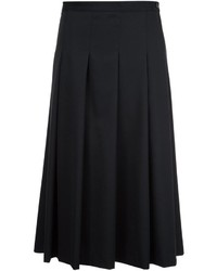 Falda de Lana Plisada Negra de Y's