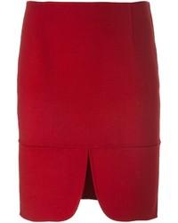 Falda de lana roja de DKNY