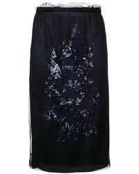 Falda de lentejuelas bordada negra de No.21