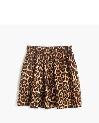 Falda de leopardo marrón