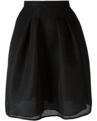 Falda de malla negra de Burberry
