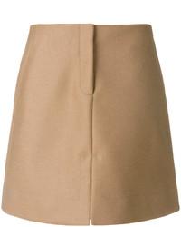 Falda de pelo marrón claro de Calvin Klein