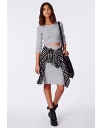 df3ee64f5 Cómo combinar una falda de punto gris en otoño 2019 (2 looks de moda ...