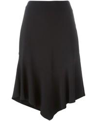 Falda de Seda Negra de Givenchy