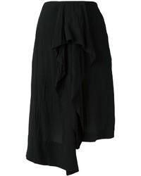 Falda de Seda Negra de Loewe