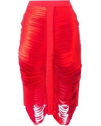 Falda de seda roja de Dion Lee