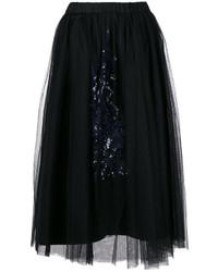 Falda de Tul con Adornos Negra de No.21