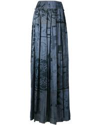 Falda estampada azul marino de Maison Margiela
