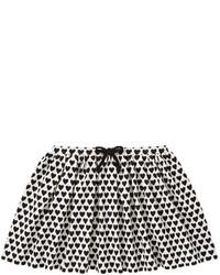 Falda estampada en blanco y negro