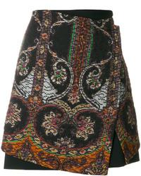 Falda estampada negra de Etro