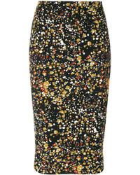 Falda estampada negra de Victoria Beckham