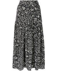Falda Geométrica Negra de Isabel Marant