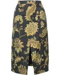Falda lápiz con recorte negra de Derek Lam