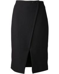 Falda lápiz con recorte negra de Proenza Schouler