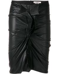 Falda lápiz de cuero negra de Etoile Isabel Marant