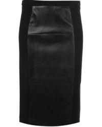 Falda lápiz de cuero negra de MICHAEL Michael Kors