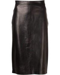 Falda lapiz de cuero original 1458501