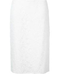 Falda Lápiz de Encaje Blanca de Nina Ricci