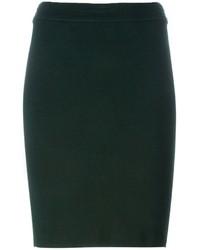 Falda Lápiz de Lana Verde Oscuro