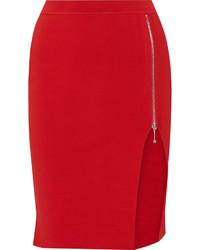 Falda lápiz de punto roja