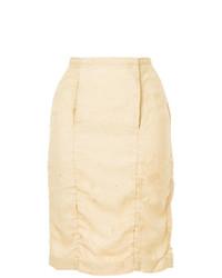 Falda lápiz marrón claro de Uma Wang