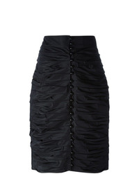 Falda Lápiz Negra de Lanvin Vintage