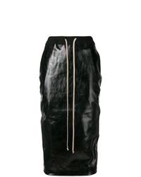 Falda Lápiz Negra de Rick Owens DRKSHDW
