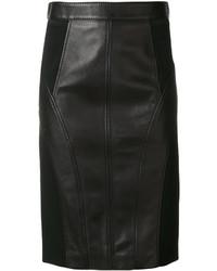 Falda Lápiz Negra de Versace