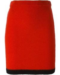 Falda Lápiz Roja de Moschino