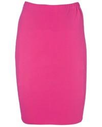 Falda lápiz rosa