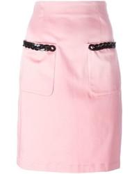 Falda lápiz rosada de Love Moschino