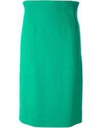 Falda Lápiz Verde de Celine