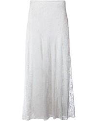 Falda larga de encaje blanca de Isabel Marant