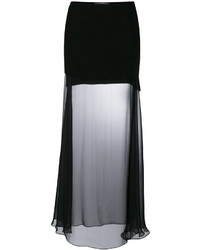 Falda larga de tul negra de Givenchy