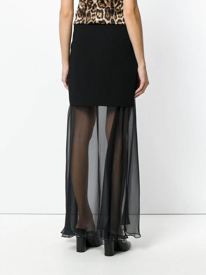 eb7e08f1c8 Falda larga de tul negra de Givenchy