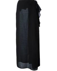 Falda larga negra de Gianfranco Ferre