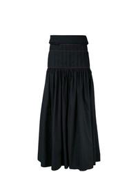 Falda larga plisada negra de Ellery