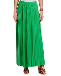Falda larga verde