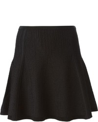 Falda línea a con relieve negra de Diane von Furstenberg
