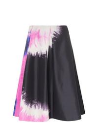 Falda línea a efecto teñido anudado negra de Prada