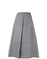 Falda línea a gris