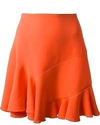 Falda línea a naranja de Victoria Beckham