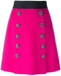 Falda línea a rosa de Dolce & Gabbana