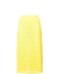 Falda midi amarilla de Derek Lam