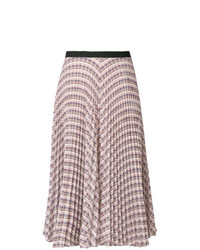 Falda midi con estampado geométrico en multicolor de Derek Lam